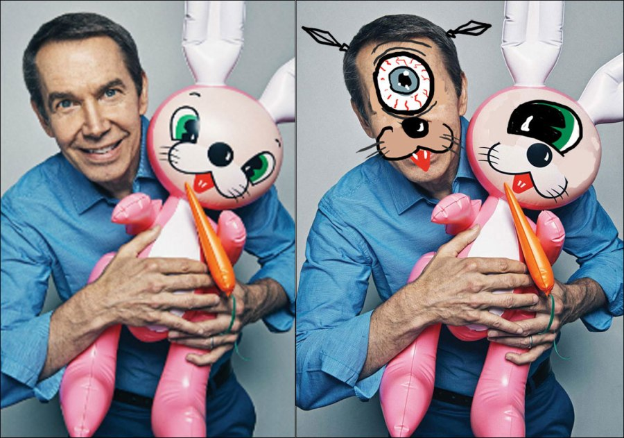 Jeff Koons as a Cyclops