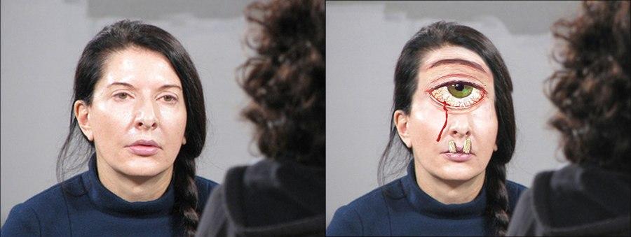 Marina Abramovic as a Cyclops