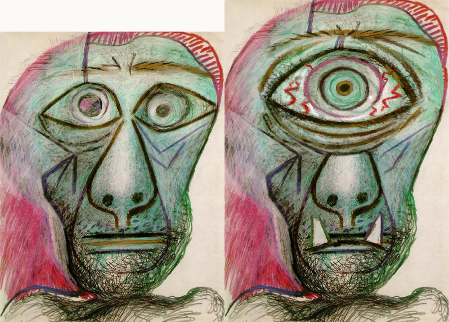 Pable Picasso as a Cyclops