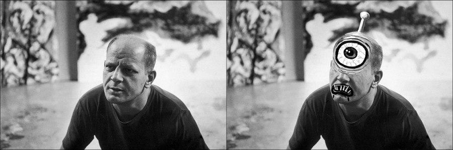 Jackson Pollock as a Cyclops