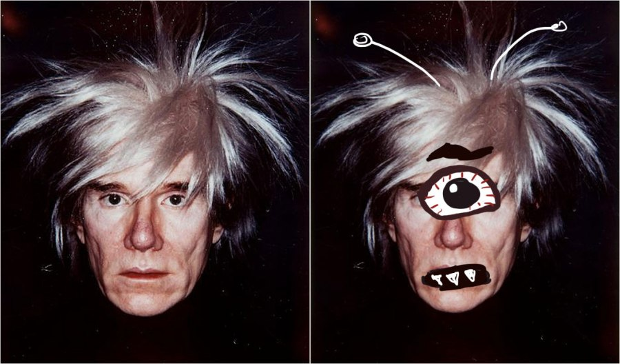 Andy Warhol as a Cyclops