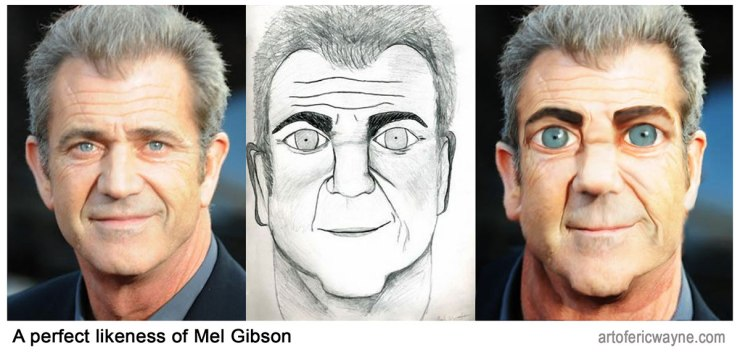 Bad fan art Mel Gibson