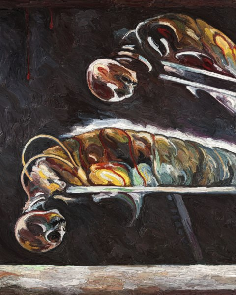 Untitled With Two Creatures