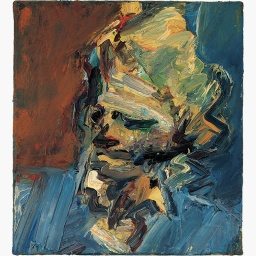 Head of Catherine Lampert, 1986, by Frank Auerbach.