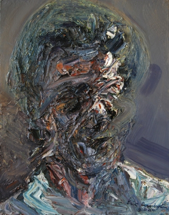 Head of an Old Woman, oil on panel, 24″ x 19″, 2004, by Eric Pennington