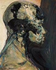 Large Head, oil on canvas, 68″ x 54″, 2011, by Eric Pennington