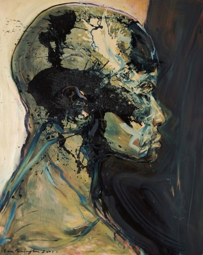 Large Head, oil on canvas, 68″ x 54″, 2011, by Eric Pennington