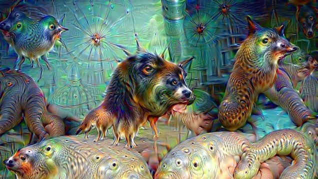 Google Deep Dream inceptionism dogs nude psychedelic