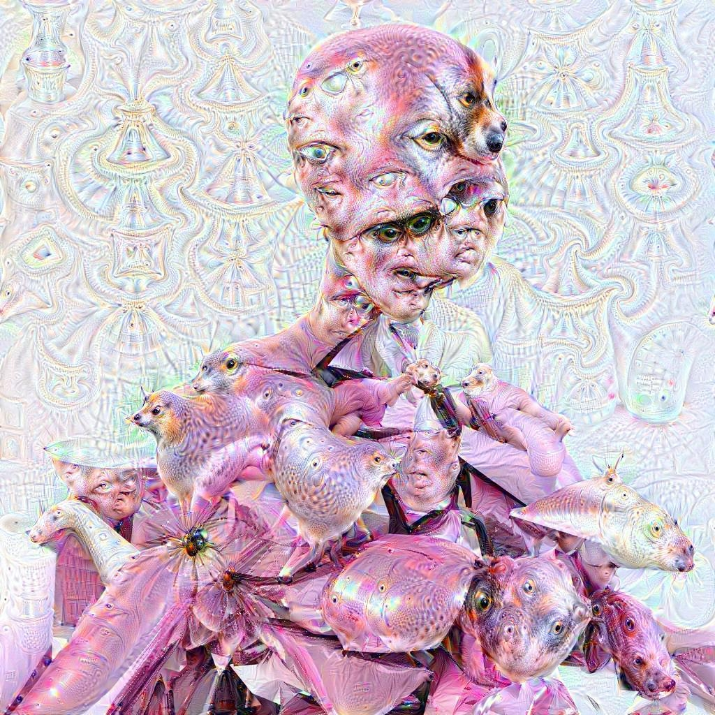 Google Deep Dream inceptionism person