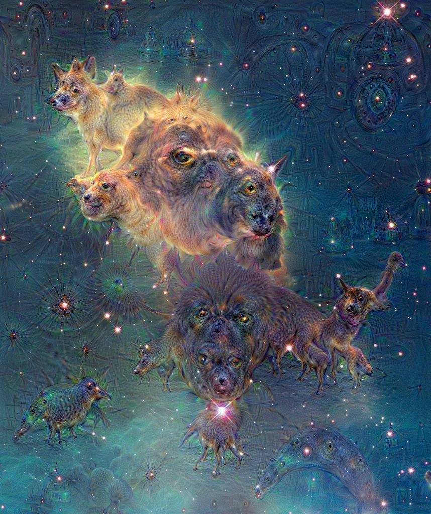 Google Deep Dream inceptionism dog galaxy Hubble