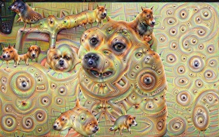 Google Deep Dream inceptionism dog caterpillars