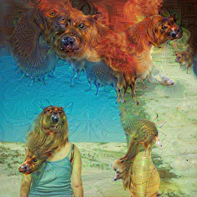 Google Deep Dream inceptionism dog caterpillars fire