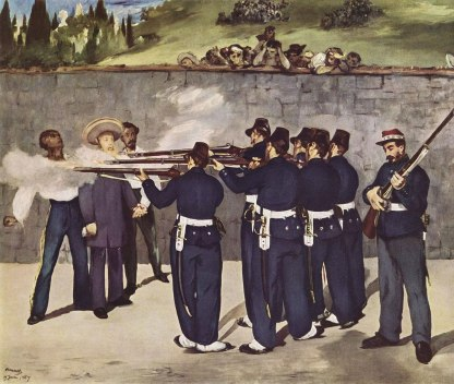 The Execution of Emperor Maximilian (1868-69), by Edouard Manet.