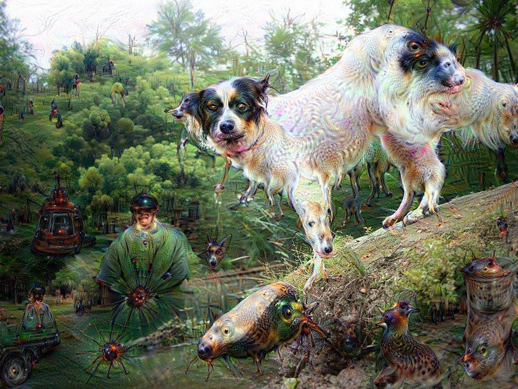 Google Deep Dream inceptionism dogs in dogs