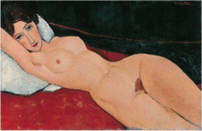 Reclining Nude 1, by Modigliani