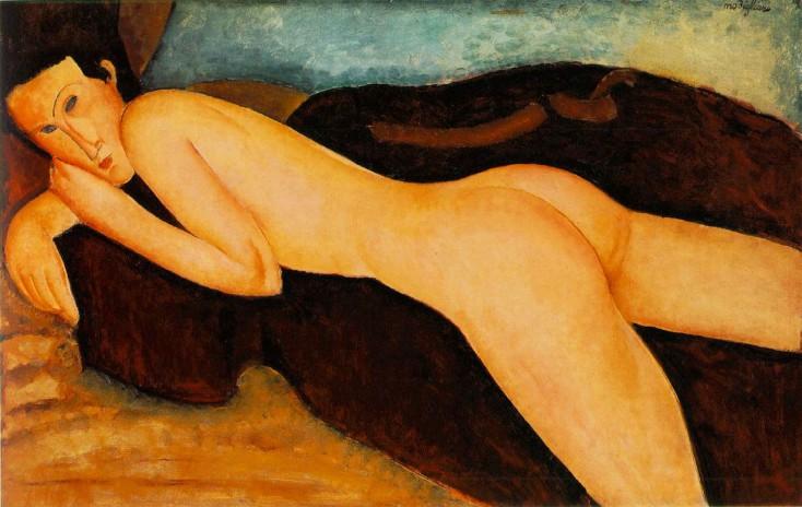 Nu Couche Dos, by Modigliani