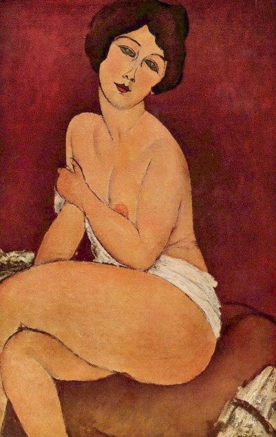Nude Sitting On a Divan, by Modigliani