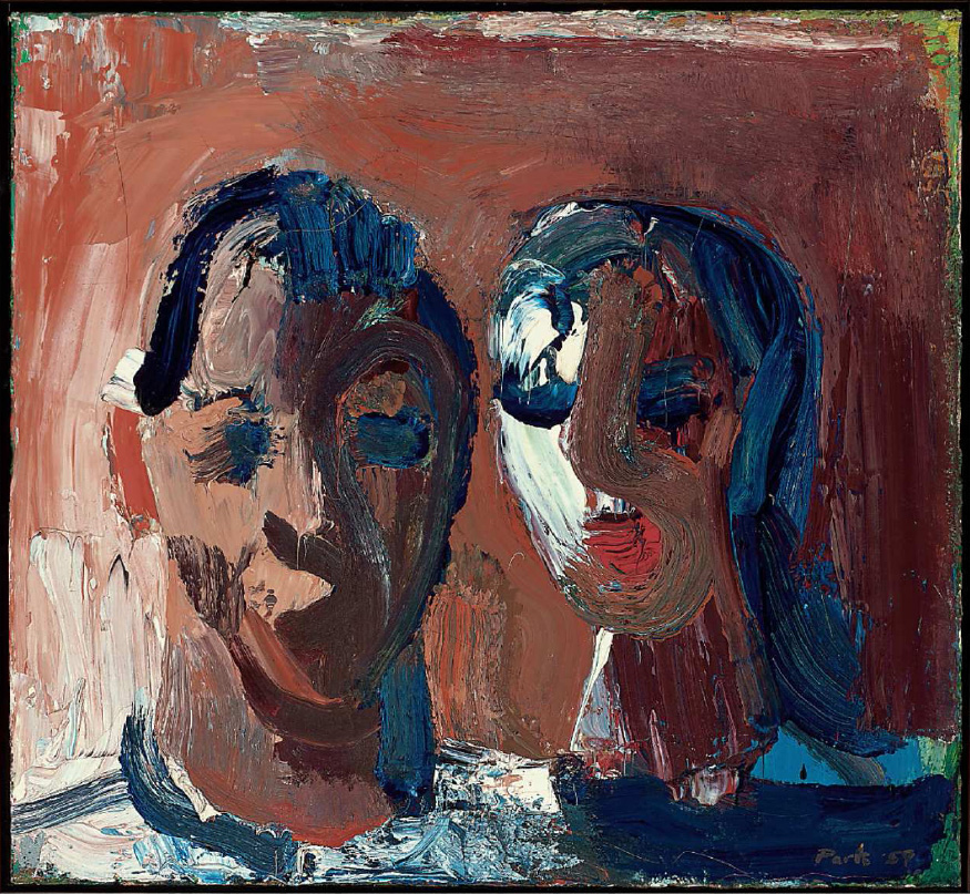 Two Heads, 1959, by David Park
