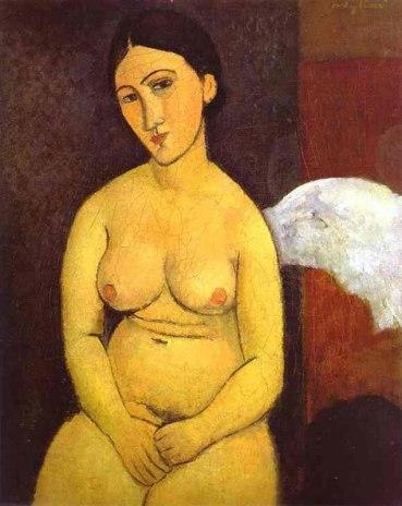 Seated Nude, by Modigliani