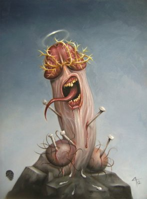 the crucifiction of penis christ