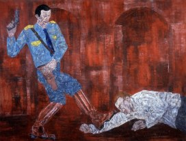 White Squad 5, 1984 by Leon Golub