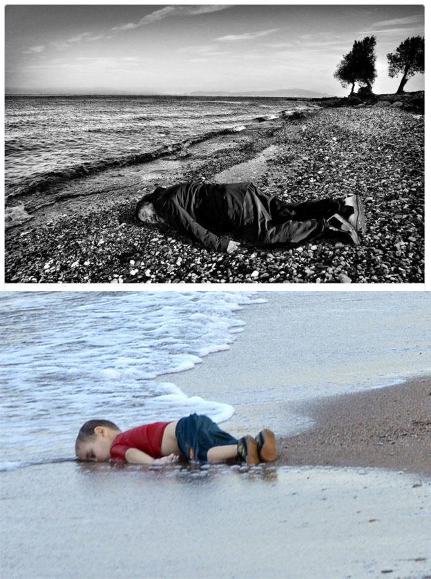 Ai-Wei-Wei-as-drowned-Syrian-boy