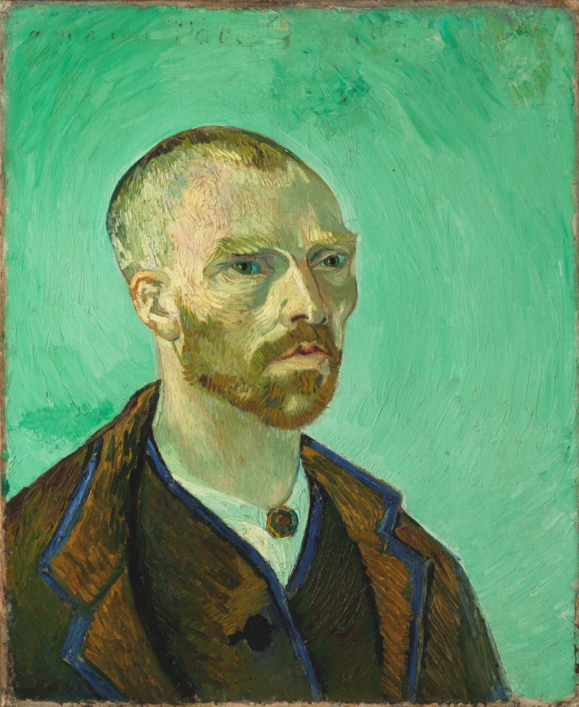 Self-Portrait Dedicated to Paul Gauguin, 1888, by Vincent Van Gogh