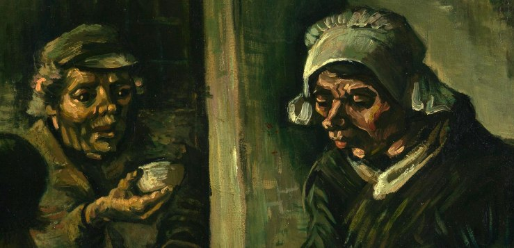 Detail of the Potato Eaters by Vincent Van Gogh