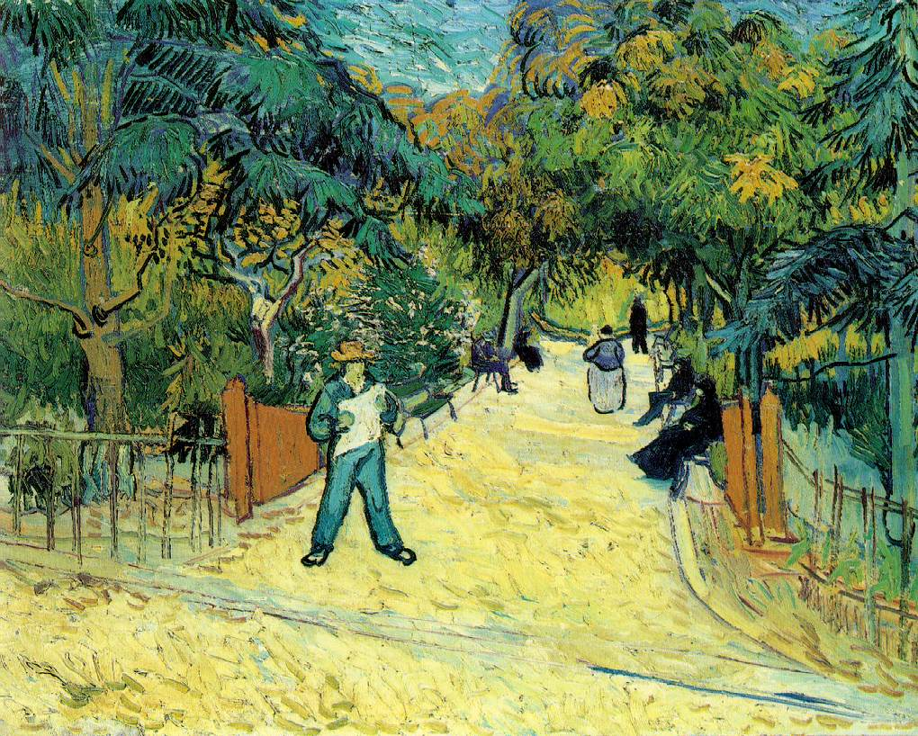 Image Entrance to the Public Garden in Arles 1888 by Vincent Van Gogh