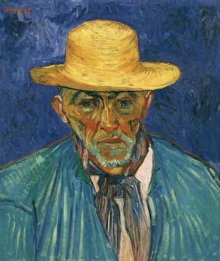 Portrait of Patience Escalier, Shepherd in Provence, 1888. by Vincent Van Gogh