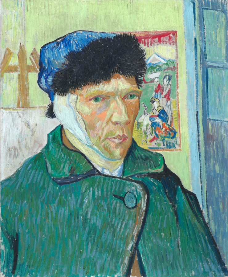 Self-Portrait with Bandaged Ear, 188, by Vincent Van Gogh