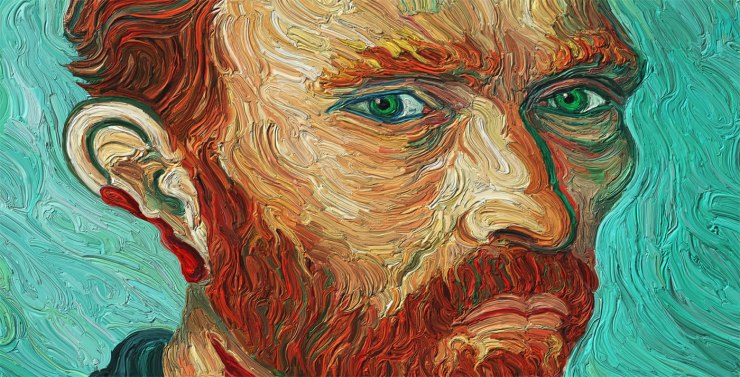 Missing Partial Eart Self-Portrait of Van Gogh, face