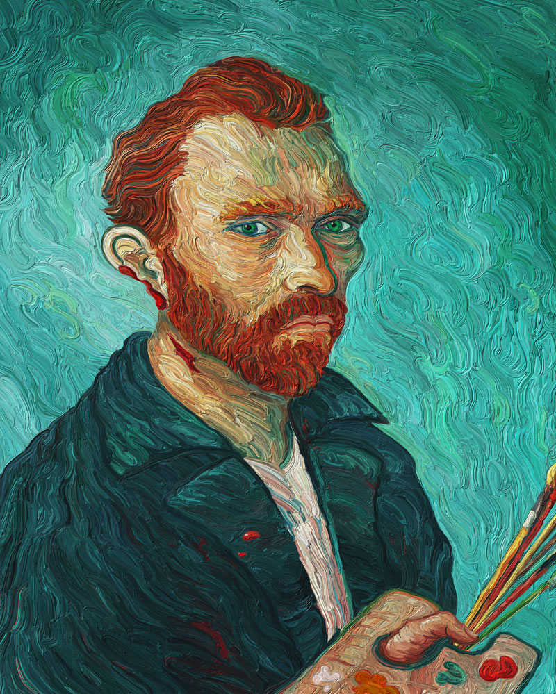 Van Gogh self-portrait with cut ear