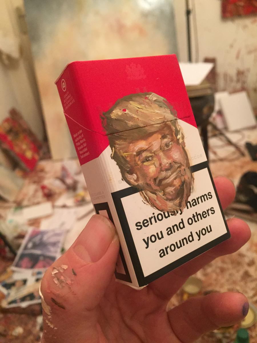 antony-micallef-paints-donald-trumps-face-on-the-front-of-cigarette-packets-for-latest-group-exhibition-body-image-1476375153