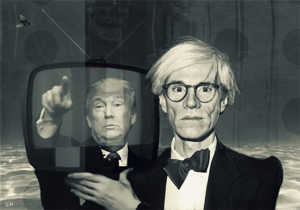 Andy Warhol and Donald Trump