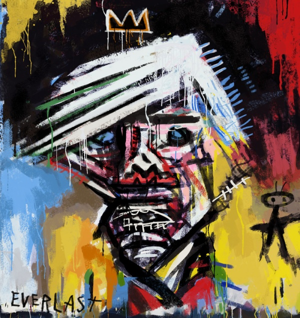Portrait of Andy Warhol by Basquiat
