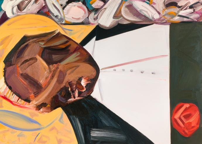 "Dana Schutz ""Open Casket"" portrait of Emmet Till"