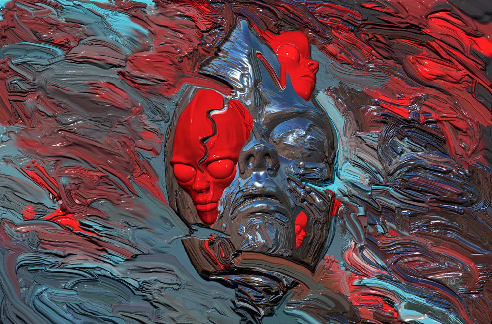 Here's an example of a new kind of image using digital impasto and digital sculpting.