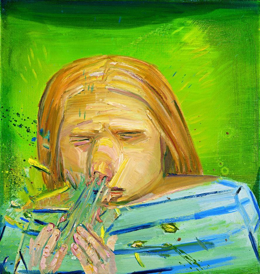 Sneeze 3, 2002, by Dana Schutz