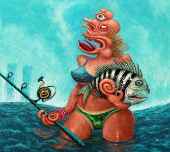Bikini Babe & Fish