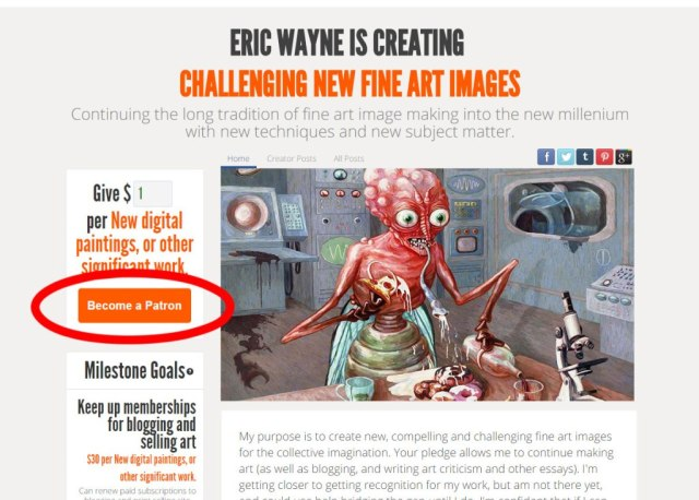 My Perspicacious Patrons – Art & criticism by eric wayne