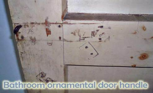 Bathroom ornamental door handle