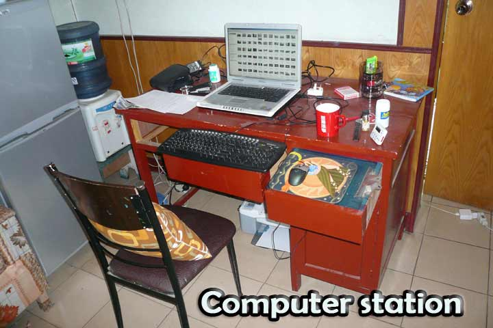 computer station
