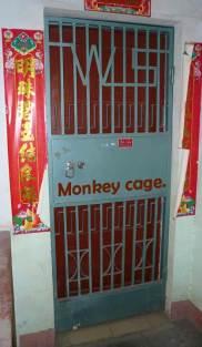 Monkey cage front door