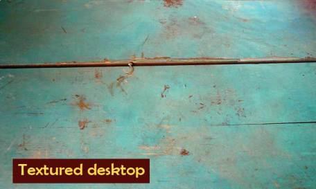 textured desktop