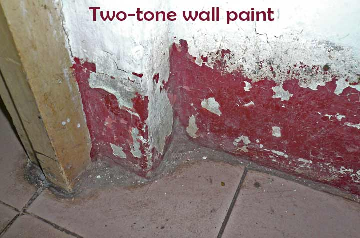 Two-tone wall paint