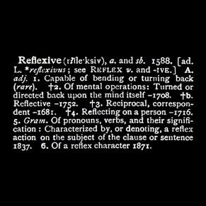 reflexive