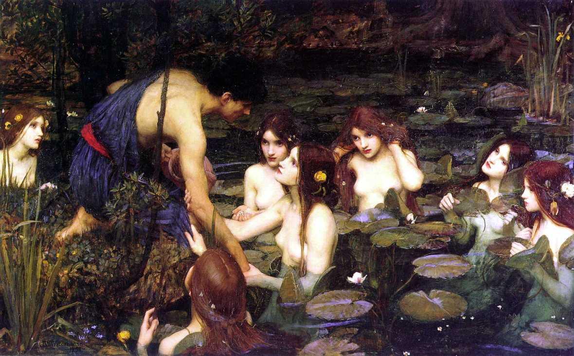 Waterhouse Hylas nymphs painting