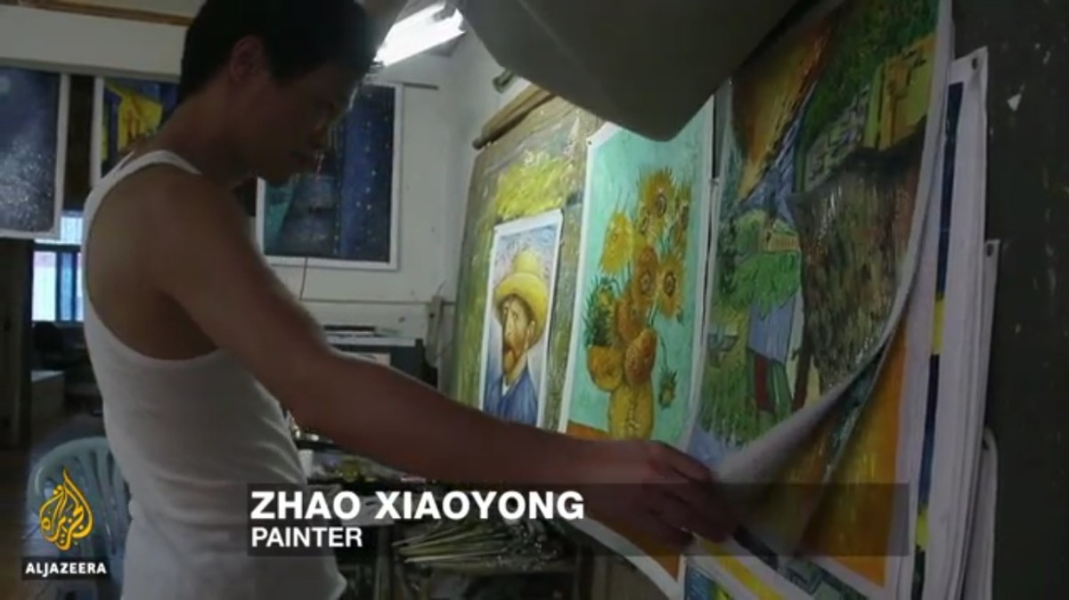 Wonderful Documentary about a Chinese Van Gogh Copy Artist.