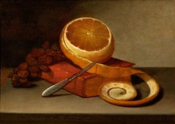 'Orange_and_Book'_by_Raphaelle_Peale,_c._1817